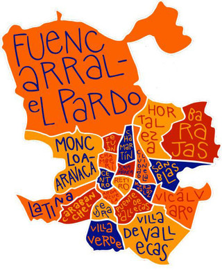 Map of Madrid districts & boroughs