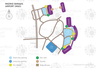 Map of Madrid Barajas airport & terminal (MAD)